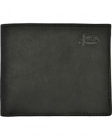 Justin Bifold Distressed Black Wallet