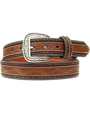 Ariat Embossed Overlay Brown Belt