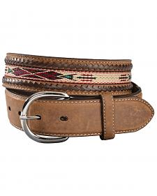 Silver Creek Men's Woven Leather Lace Belt