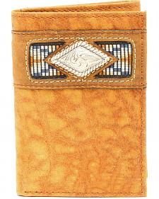 Ariat Trifold Gator Ribbon Wallet