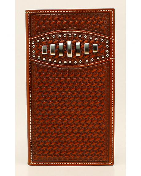 Ariat Basketweave Concho Rodeo Wallet