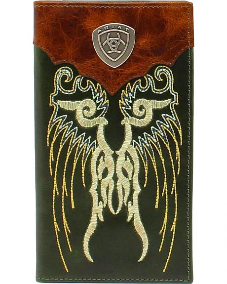Ariat Embroidered Shield Rodeo Wallet