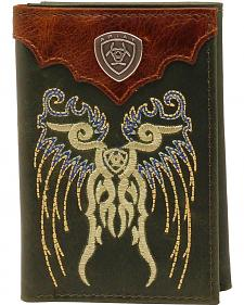 Ariat Trifold Embroidered Shield Wallet