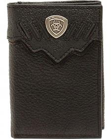 Ariat Black Shield Trifold Wallet