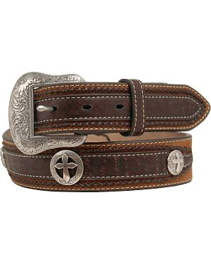 Nocona Distressed Cross Concho Belt