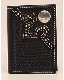 Nocona Embossed Concho Trifold Wallet