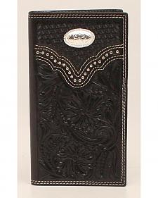 Nocona Floral Oval Concho Rodeo Wallet