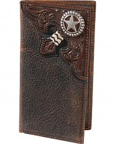 Nocona Embossed Rodeo Lonestar Concho Wallet