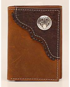 Nocona Trifold Cross Concho Wallet