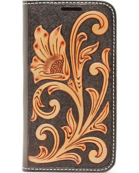 Nocona Leather Floral Scroll Galaxy S4 Case Wallet