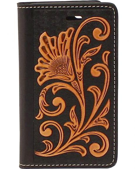 Nocona Leather Floral Scroll iPhone 5 and 5S Case Wallet
