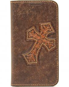 Nocona Leather Diagonal Cross Galaxy S4 Case Wallet
