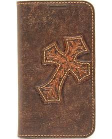 Nocona Leather Diagonal Cross Galaxy S4 Case Wallet