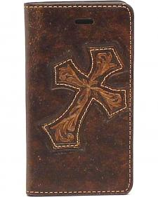 Nocona Leather Diagonal Cross iPhone 5 and 5S Case Wallet