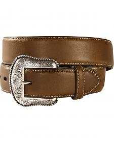 Nocona Solid Brown Western Belt
