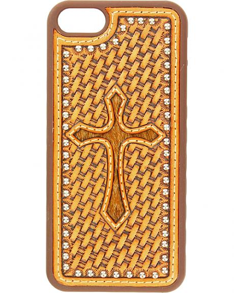 Nocona Basketweave Hair-On Cross iPhone 5 and 5S Case