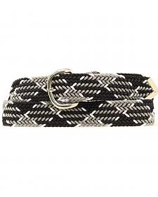 Nocona Black and Grey Machine Woven Braided Belt