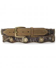 Nocona Scalloped Mossy Oak Bullet Concho Belt - Large