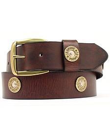 Nocona Brown Western Bullet Belt - Large