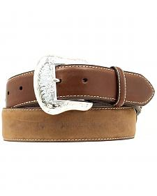 Nocona Top Hand Lace Billet Diamond Concho Belt - Large