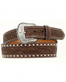 Nocona Tapered Floral Tooled Western Belt