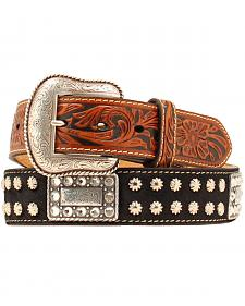 Nocona Nailhead Rectangle Concho Belt
