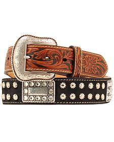Nocona Nailhead Rectangle Concho Belt