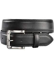Gibson Trading Co. Men's Black Roller Buckle Leather Belt