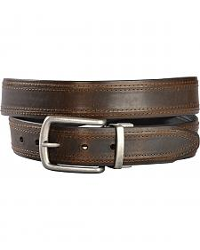 Gibson Trading Co. Men's Twisted Buckle Reversible Leather Belt