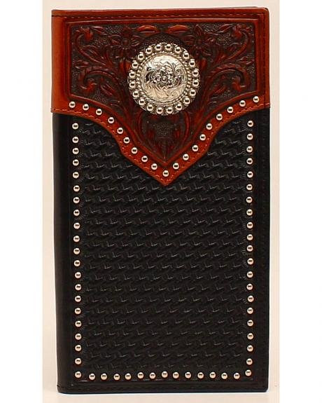 Ariat Basketweave Tab Concho Rodeo Wallet
