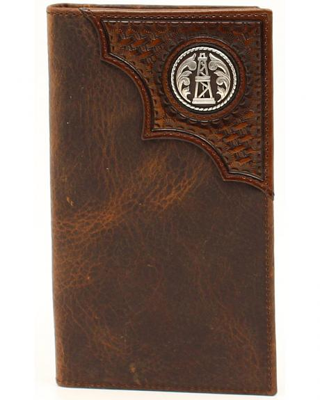 Ariat Basketweave Oil Rig Concho Rodeo Wallet