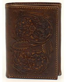 Ariat Floral Embossed Tri-Fold Wallet