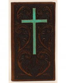 Ariat Turquoise Cross Rodeo Wallet