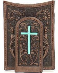 Ariat Turquoise Cross Money Clip Wallet