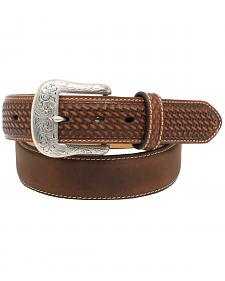 "Ariat 1 1/2"" Basket Weave Tab Belt"
