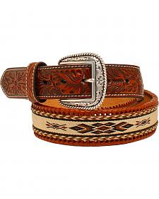 Ariat Embossed Tabs Ribbon Inlay Belt
