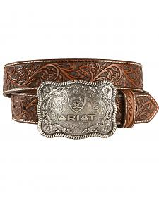 "Ariat 1 1/2"" Emobssed Plate Belt"
