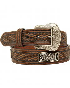Nocona Men's Embossed Diamond Floral Concho Belt