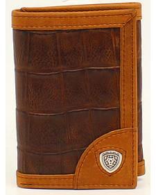 Ariat Croc Shield Concho Tri-Fold Wallet