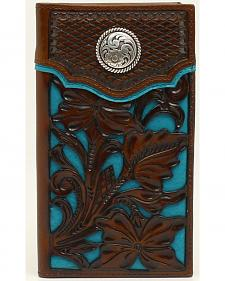 Nocona Colorful Floral Overlay Rodeo Wallet