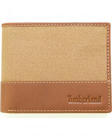 Timberland Men's Baseline Canvas Passcase Wallet