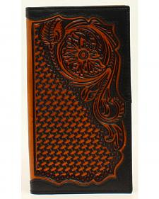 Ariat Floral and Basketweave Rodeo Wallet