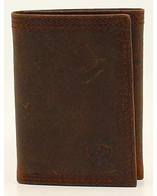 Ariat Basic Distressed Tri-Fold Wallet