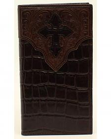 Ariat Croc and Cross Overlay Rodeo Wallet