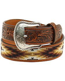 Nocona Men's Beaded Inlay Belt