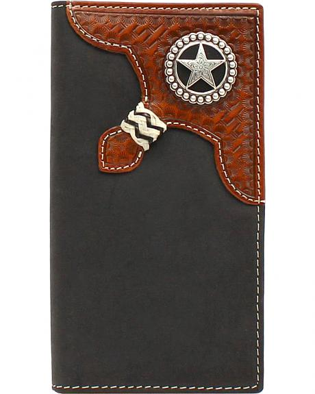 Nocona Star Concho Braid Rodeo Wallet