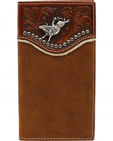 Nocona Bull Riding Concho Embossed Rodeo Wallet