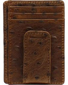 Nocona Ostrich Print Money Clip Wallet