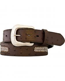 Gibson Trading Co. Men's Ostrich Print Steel Laced Belt