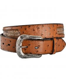 Gibson Trading Co. Men's Woven Billet Ostrich Embossed Leather Belt